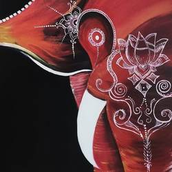 elephant paint night, 18 x 24 inch, poonam agarwal agarwal,18x24inch,canvas,paintings,abstract paintings,modern art paintings,elephant paintings,paintings for dining room,paintings for living room,paintings for bedroom,paintings for office,paintings for bathroom,paintings for kids room,paintings for hotel,paintings for kitchen,paintings for school,paintings for hospital,acrylic color,GAL02098140243
