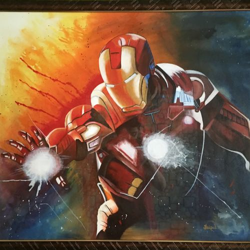 iron man, 35 x 31 inch, dipal rathod,35x31inch,canvas,paintings,abstract paintings,figurative paintings,modern art paintings,conceptual paintings,art deco paintings,paintings for dining room,paintings for living room,paintings for office,paintings for kids room,paintings for hotel,paintings for school,acrylic color,GAL02852840248