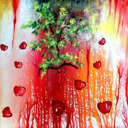 the garden of eden, 24 x 20 inch, kankana  pal,abstract paintings,paintings for dining room,paintings for living room,paintings for office,canvas,acrylic color,24x20inch,GAL08334026