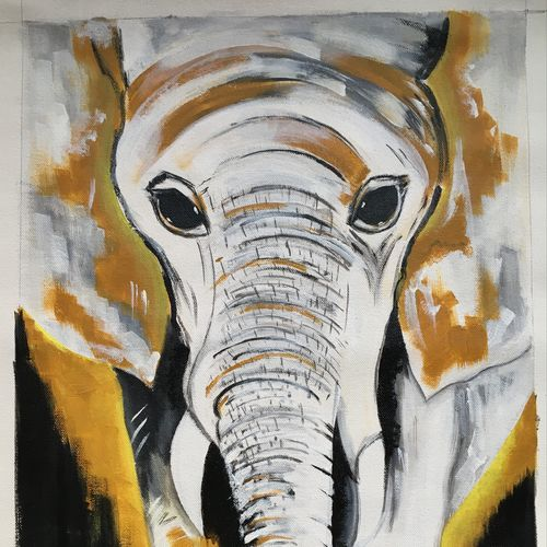 elephant painting , 13 x 18 inch, dipal rathod,13x18inch,canvas,paintings,abstract paintings,wildlife paintings,modern art paintings,abstract expressionism paintings,elephant paintings,paintings for dining room,paintings for living room,paintings for bedroom,paintings for office,paintings for bathroom,paintings for kids room,paintings for hotel,paintings for school,paintings for hospital,acrylic color,GAL02852840260