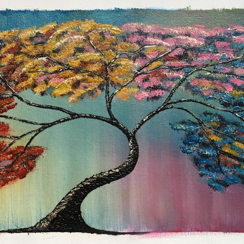tree texture painting, 24 x 10 inch, dipal rathod,24x10inch,canvas,paintings,flower paintings,modern art paintings,conceptual paintings,nature paintings | scenery paintings,art deco paintings,children paintings,kids paintings,paintings for dining room,paintings for living room,paintings for bedroom,paintings for office,paintings for hotel,paintings for school,paintings for hospital,oil color,GAL02852840275