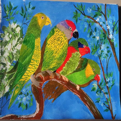 colorful birds, 12 x 8 inch, chandrani das,12x8inch,thick paper,wildlife paintings,paintings for dining room,paintings for living room,paintings for bedroom,paintings for office,paintings for bathroom,paintings for kids room,paintings for kitchen,paintings for school,paintings for hospital,paintings for dining room,paintings for living room,paintings for bedroom,paintings for office,paintings for bathroom,paintings for kids room,paintings for kitchen,paintings for school,paintings for hospital,acrylic color,GAL01316940278