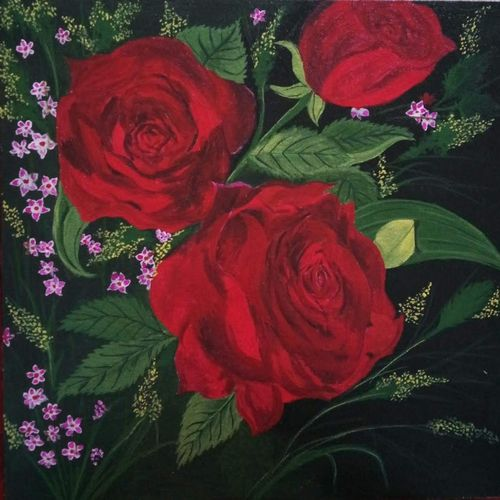 red roses, 12 x 12 inch, chandrani das,12x12inch,canvas,flower paintings,paintings for dining room,paintings for living room,paintings for bedroom,paintings for office,paintings for bathroom,paintings for kids room,paintings for hotel,paintings for kitchen,paintings for school,paintings for hospital,paintings for dining room,paintings for living room,paintings for bedroom,paintings for office,paintings for bathroom,paintings for kids room,paintings for hotel,paintings for kitchen,paintings for school,paintings for hospital,acrylic color,GAL01316940284