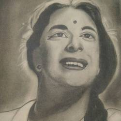 nargis, 25 x 35 inch, kajal saxena,paintings for living room,figurative drawings,paper,graphite pencil,25x35inch,GAL014454030
