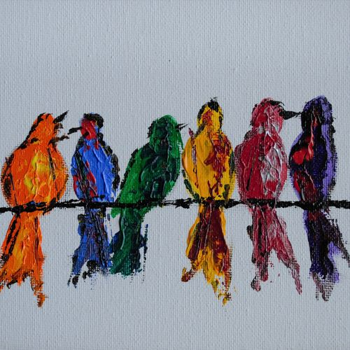 colorful abstract birds, 8 x 6 inch, jogamaya mishra,8x6inch,canvas,paintings,abstract paintings,wildlife paintings,modern art paintings,conceptual paintings,nature paintings | scenery paintings,expressionism paintings,impressionist paintings,minimalist paintings,contemporary paintings,paintings for dining room,paintings for living room,paintings for bedroom,paintings for office,paintings for kids room,paintings for hotel,paintings for school,paintings for hospital,acrylic color,GAL02835340310