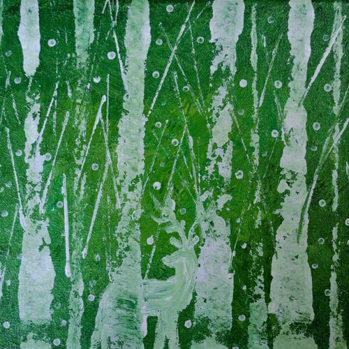 forest deer abstract, 10 x 8 inch, jogamaya mishra,10x8inch,canvas,paintings,abstract paintings,wildlife paintings,landscape paintings,modern art paintings,conceptual paintings,nature paintings | scenery paintings,abstract expressionism paintings,art deco paintings,expressionism paintings,impressionist paintings,animal paintings,contemporary paintings,paintings for dining room,paintings for living room,paintings for bedroom,paintings for office,paintings for kids room,paintings for hotel,paintings for school,paintings for hospital,acrylic color,GAL02835340319