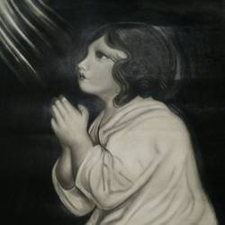 prayer, 40 x 60 inch, kajal saxena,expressionist drawings,paintings for dining room,drawing paper,charcoal,40x60inch,GAL014454032