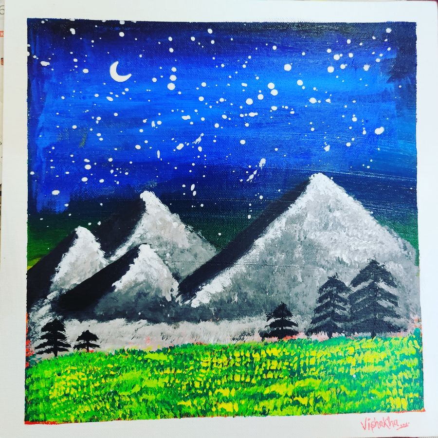 beautiful scenery, 15 x 15 inch, vishakha meena,15x15inch,canvas,paintings,flower paintings,landscape paintings,nature paintings | scenery paintings,realistic paintings,paintings for dining room,paintings for living room,paintings for bedroom,paintings for office,paintings for hotel,paintings for kitchen,paintings for school,paintings for hospital,acrylic color,GAL02825040324