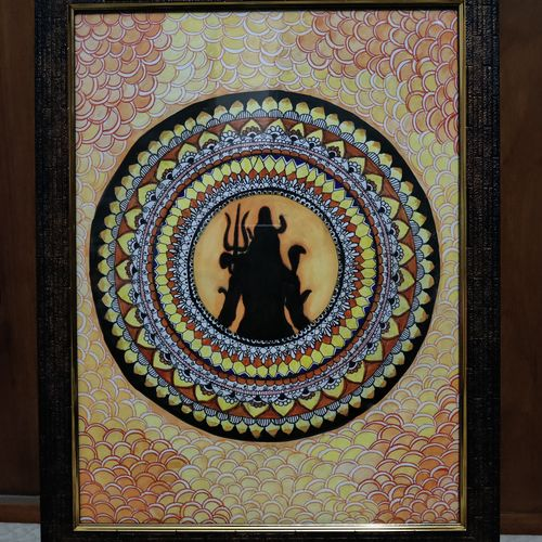 shiva, 30 x 42 inch, arpit agarwal,30x42inch,drawing paper,paintings,religious paintings,portrait paintings,paintings for dining room,paintings for living room,paintings for bedroom,paintings for dining room,paintings for living room,paintings for bedroom,acrylic color,pen color,GAL02857240350