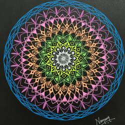 colourful mandala art, 12 x 12 inch, nameesh rajamane,12x12inch,thick paper,paintings for dining room,paintings for living room,paintings for bedroom,paintings for office,art deco drawings,paintings for dining room,paintings for living room,paintings for bedroom,paintings for office,pen color,paper,GAL02418840352