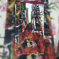 the illusion, 8 x 36 inch, shruti shinde,8x36inch,canvas,paintings,abstract expressionism paintings,illustration paintings,paintings for hotel,acrylic color,GAL0355740363