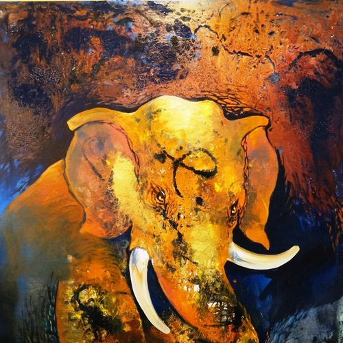 the mood, 48 x 70 inch, dr. ankita  goenka ,48x70inch,canvas,paintings,abstract paintings,wildlife paintings,figurative paintings,modern art paintings,abstract expressionism paintings,animal paintings,contemporary paintings,paintings for dining room,paintings for living room,paintings for bedroom,paintings for office,paintings for bathroom,paintings for kids room,paintings for hotel,paintings for kitchen,paintings for school,paintings for hospital,acrylic color,enamel color,GAL0297640381