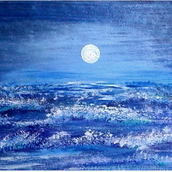 full moonlight scenery , 12 x 10 inch, sameeulla shaik,12x10inch,canvas,landscape paintings,paintings for dining room,paintings for living room,paintings for bedroom,paintings for office,paintings for hotel,paintings for dining room,paintings for living room,paintings for bedroom,paintings for office,paintings for hotel,acrylic color,GAL02859640389