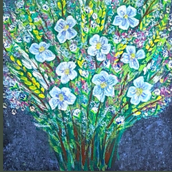 flower bunch , 10 x 12 inch, sameeulla shaik,10x12inch,canvas,paintings,flower paintings,paintings for dining room,paintings for living room,paintings for bedroom,paintings for office,paintings for kids room,paintings for hotel,acrylic color,GAL02859640393