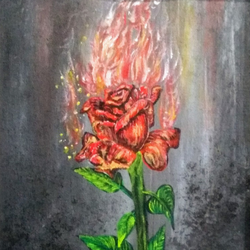 burning rose, 10 x 12 inch, sameeulla shaik,10x12inch,canvas,flower paintings,paintings for dining room,paintings for living room,paintings for bedroom,paintings for office,paintings for kids room,paintings for hotel,paintings for school,paintings for dining room,paintings for living room,paintings for bedroom,paintings for office,paintings for kids room,paintings for hotel,paintings for school,acrylic color,GAL02859640398