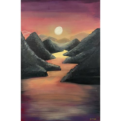 untouch nature beauty divine west vastu painting mountain water reflection with sunrise, 24 x 36 inch, gaurangi gupta,24x36inch,canvas,paintings,landscape paintings,nature paintings | scenery paintings,realistic paintings,paintings for dining room,paintings for living room,paintings for bedroom,paintings for office,paintings for bathroom,paintings for kids room,paintings for hotel,paintings for kitchen,paintings for school,paintings for hospital,paintings for dining room,paintings for living room,paintings for bedroom,paintings for office,paintings for bathroom,paintings for kids room,paintings for hotel,paintings for kitchen,paintings for school,paintings for hospital,acrylic color,GAL02814640412