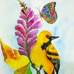 colourful nature2, 9 x 12 inch, salisalima ratha,9x12inch,renaissance watercolor paper,paintings,figurative paintings,watercolor,GAL02519840443