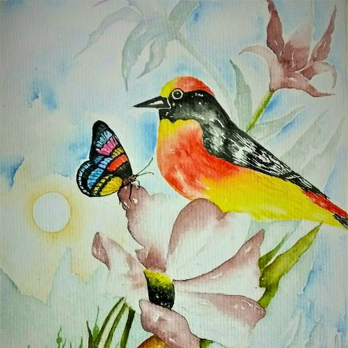 colourful nature3, 9 x 12 inch, salisalima ratha,9x12inch,renaissance watercolor paper,paintings,figurative paintings,watercolor,GAL02519840444