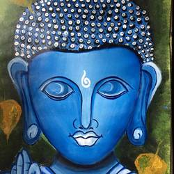 budha, 11 x 16 inch, kamakshi kannan,11x16inch,paper,buddha paintings,paintings for living room,paintings for living room,poster color,GAL02860640457