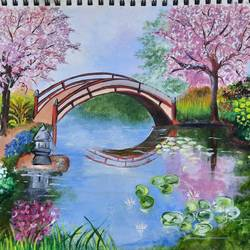 scenery, 11 x 16 inch, kamakshi kannan,11x16inch,paper,nature paintings | scenery paintings,paintings for living room,paintings for living room,poster color,GAL02860640461