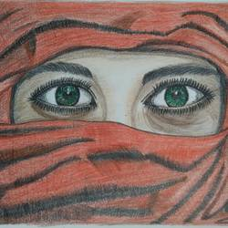 speaking eyes, 11 x 9 inch, kalaivani pazhani,11x9inch,drawing paper,drawings,realism drawings,paintings for dining room,paintings for living room,paintings for bedroom,pencil color,GAL02757040473
