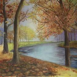 serenity, 24 x 15 inch, haimanti bhattacharyya,24x15inch,canvas,paintings,landscape paintings,paintings for living room,paintings for bedroom,paintings for hotel,paintings for school,oil color,GAL02865440487