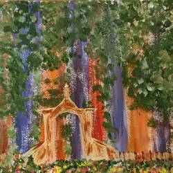 peace in the woods, 18 x 10 inch, sindhu  sn,18x10inch,canvas,paintings,abstract paintings,paintings for living room,paintings for office,paintings for hotel,acrylic color,GAL02205640502