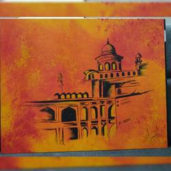 fort, 16 x 20 inch, pranali patel,16x20inch,canvas,cityscape paintings,paintings for living room,paintings for living room,acrylic color,GAL02546140515