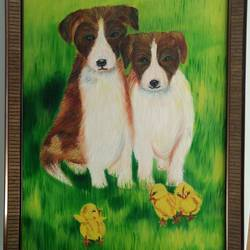 lost.. looking for love, 20 x 26 inch, mamta sanwal,20x26inch,canvas,paintings,animal paintings,paintings for kids room,paintings for hospital,oil color,GAL02869540530