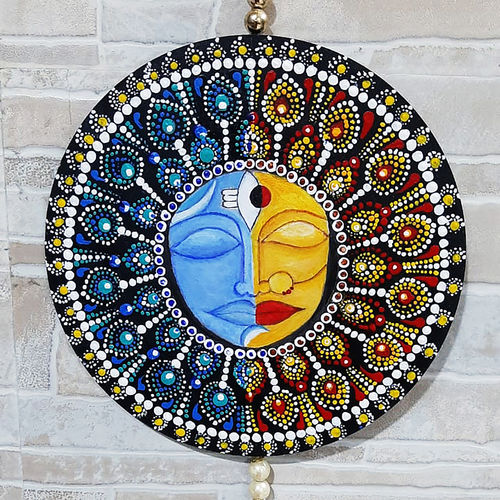 mandala art   acrylic colour paint with wall hanging pearl garland, 8 x 8 inch, kunal raul,8x8inch,wood board,religious paintings,lord shiva paintings,paintings for dining room,paintings for living room,paintings for bedroom,paintings for office,paintings for hotel,paintings for dining room,paintings for living room,paintings for bedroom,paintings for office,paintings for hotel,acrylic color,wood,GAL02870740532