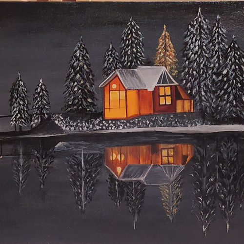 warm house in cold night | acrylic original unique and quality canvas painting | modern art, living room wall art, large painting, gift active, 18 x 14 inch, tanvi raul,18x14inch,canvas board,landscape paintings,nature paintings | scenery paintings,paintings for dining room,paintings for living room,paintings for bedroom,paintings for office,paintings for kids room,paintings for hotel,paintings for kitchen,paintings for school,paintings for hospital,paintings for dining room,paintings for living room,paintings for bedroom,paintings for office,paintings for kids room,paintings for hotel,paintings for kitchen,paintings for school,paintings for hospital,acrylic color,GAL02870740533