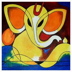 abstract ganesha , 18 x 24 inch, akshita pillai,18x24inch,canvas,paintings,abstract paintings,religious paintings,art deco paintings,ganesha paintings | lord ganesh paintings,paintings for dining room,paintings for living room,paintings for bedroom,paintings for office,paintings for hotel,paintings for dining room,paintings for living room,paintings for bedroom,paintings for office,paintings for hotel,acrylic color,GAL01807940555