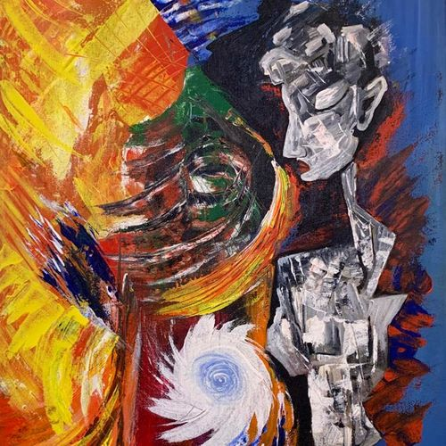the witness, 20 x 30 inch, pushpa nath jha,20x30inch,canvas,paintings,abstract paintings,figurative paintings,paintings for living room,paintings for bedroom,paintings for hotel,acrylic color,GAL01805640562