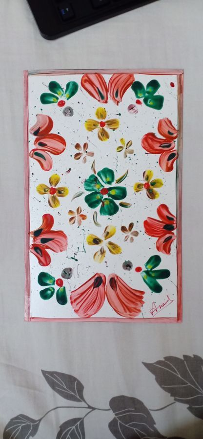 subtlety of flowers, 15 x 25 inch, anamika lakhlan,15x25inch,paper,paintings,flower paintings,poster color,GAL02844840573