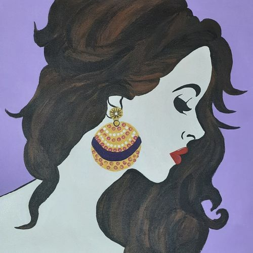 women with sparkle, 20 x 16 inch, bency varghese,20x16inch,canvas,paintings,modern art paintings,paintings for living room,paintings for bedroom,paintings for office,acrylic color,GAL02855740582