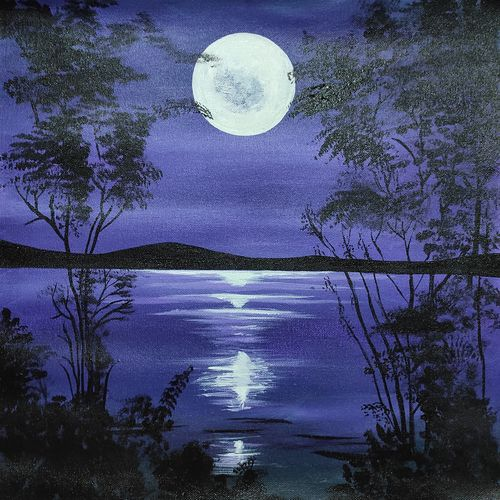 dark night, 16 x 16 inch, apeksha agrawal,16x16inch,canvas,paintings,landscape paintings,paintings for dining room,paintings for living room,paintings for bedroom,paintings for office,paintings for bathroom,paintings for kids room,paintings for hotel,paintings for kitchen,paintings for school,paintings for hospital,acrylic color,GAL01501140612
