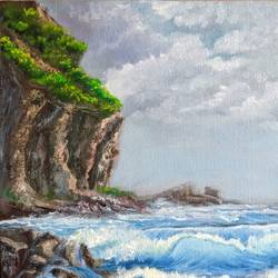 call sea breeze, 20 x 16 inch, krishna ghosh,20x16inch,canvas,landscape paintings,nature paintings | scenery paintings,contemporary paintings,oil color,GAL02828840617
