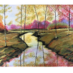 river flowing through forest , 24 x 18 inch, damayanti ojha,24x18inch,canvas,paintings,abstract paintings,landscape paintings,modern art paintings,still life paintings,nature paintings | scenery paintings,illustration paintings,realism paintings,paintings for dining room,paintings for living room,paintings for bedroom,paintings for office,paintings for bathroom,paintings for kids room,paintings for hotel,paintings for kitchen,paintings for school,paintings for hospital,acrylic color,GAL02877140622