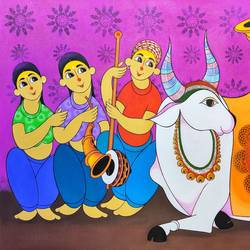 bull festivel, 60 x 36 inch, dnyaneshwar  bembade ,60x36inch,canvas,figurative paintings,paintings for dining room,paintings for living room,paintings for bedroom,paintings for office,paintings for kids room,paintings for hotel,paintings for school,paintings for dining room,paintings for living room,paintings for bedroom,paintings for office,paintings for kids room,paintings for hotel,paintings for school,acrylic color,GAL046440631