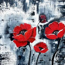 red , 20 x 20 inch, priyanka raturi,20x20inch,canvas,flower paintings,oil color,GAL02001440643