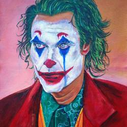 joker, 16 x 20 inch, mehul boricha,16x20inch,canvas,paintings,figurative paintings,portrait paintings,paintings for dining room,paintings for living room,paintings for bedroom,acrylic color,GAL02737740648