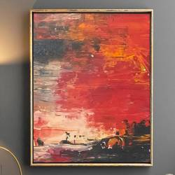 large wall art,original painting on canvas, sunscape painting, landscape painting, red abstract painting,abstract painting,texture painting, 36 x 24 inch, nidhi patankar,36x24inch,canvas,abstract paintings,paintings for dining room,paintings for living room,paintings for bedroom,paintings for office,paintings for hotel,paintings for dining room,paintings for living room,paintings for bedroom,paintings for office,paintings for hotel,acrylic color,GAL02878140656