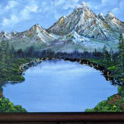 mighty mountains, 20 x 16 inch, krishna ghosh,20x16inch,canvas,paintings,landscape paintings,nature paintings | scenery paintings,contemporary paintings,oil color,GAL02828840667
