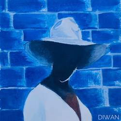 the hat, 8 x 11 inch, neha diwan,8x11inch,thick paper,paintings,abstract paintings,modern art paintings,conceptual paintings,portrait paintings,photorealism,portraiture,paintings for dining room,paintings for living room,paintings for bedroom,paintings for office,paintings for bathroom,paintings for hotel,paintings for kitchen,paintings for school,acrylic color,oil color,pastel color,pencil color,paper,GAL02876540674