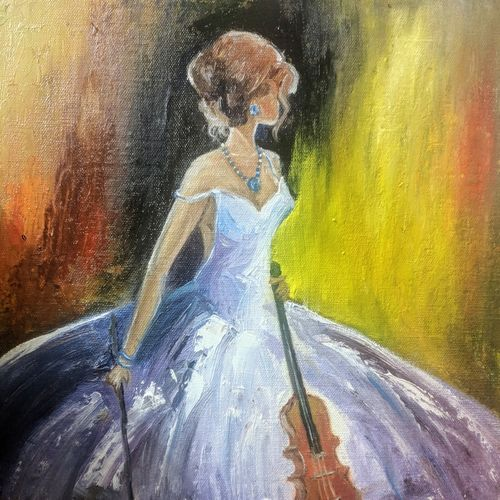 lady in love, 12 x 16 inch, krishna ghosh,12x16inch,canvas,paintings,abstract paintings,expressionism paintings,pop art paintings,contemporary paintings,oil color,GAL02828840685