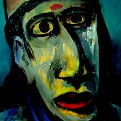 creative portrait, 10 x 14 inch, girish chandra vidyaratna,abstract paintings,paintings for living room,ivory sheet,acrylic color,10x14inch,GAL0364069