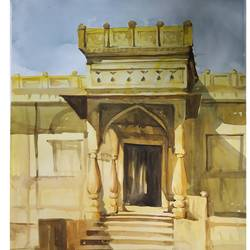 steps, 22 x 28 inch, soyli saha,22x28inch,cartridge paper,paintings,conceptual paintings,religious paintings,photorealism paintings,realism paintings,contemporary paintings,realistic paintings,paintings for dining room,paintings for living room,paintings for bedroom,paintings for office,paintings for kids room,paintings for hotel,paintings for kitchen,paintings for school,paintings for hospital,watercolor,GAL0606540693