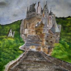 castle, 15 x 11 inch, roopkotha s,15x11inch,drawing paper,paintings,landscape paintings,nature paintings | scenery paintings,acrylic color,paper,GAL02786540735