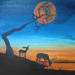hope, 12 x 16 inch, ankita roy,12x16inch,canvas,paintings,wildlife paintings,nature paintings | scenery paintings,paintings for dining room,paintings for living room,paintings for bedroom,paintings for office,paintings for kids room,paintings for hotel,paintings for school,paintings for hospital,oil color,GAL02876040742