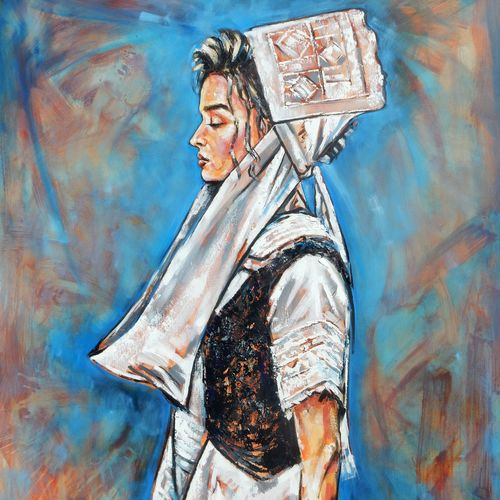 albanian girl , 47 x 39 inch, saranda xhemajli,47x39inch,canvas,paintings,figurative paintings,portrait paintings,oil color,GAL0797540746